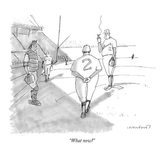 """What now?"" - New Yorker Cartoon-Michael Crawford-Premium Giclee Print"