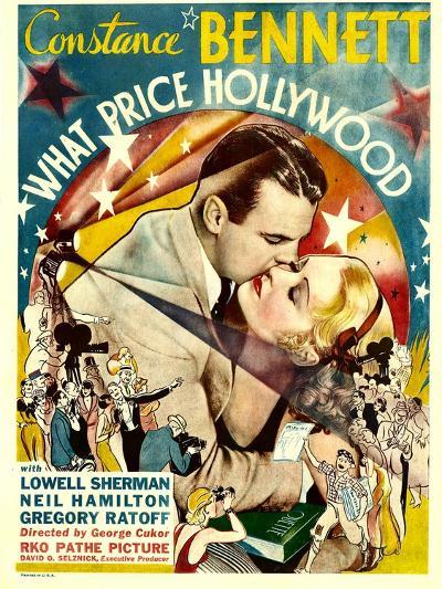 What Price Hollywood?, Neil Hamilton, Constance Bennett on Window Card, 1932--Photo