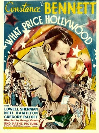 What Price Hollywood?, Neil Hamilton, Constance Bennett on Window Card, 1932
