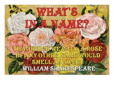 What's in a Name?-William Shakespeare-Art Print
