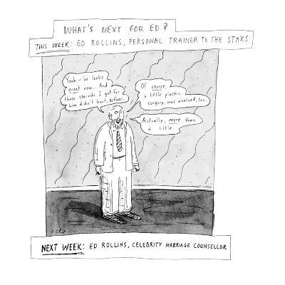 What's next for Ed? - New Yorker Cartoon-Roz Chast-Premium Giclee Print