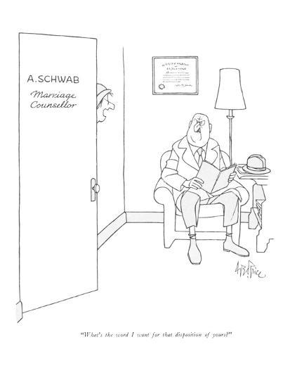 """What's the word I want for that disposition of yours?"" - New Yorker Cartoon-George Price-Premium Giclee Print"
