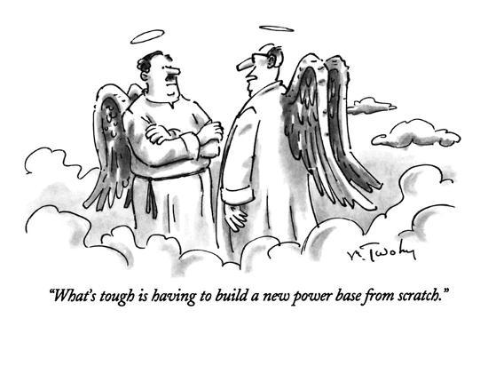 """""""What's tough is having to build a new power base from scratch."""" - New Yorker Cartoon-Mike Twohy-Premium Giclee Print"""