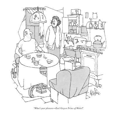 """What's your pleasure?Earl Grey or Prince of Wales?"" - New Yorker Cartoon-George Price-Premium Giclee Print"