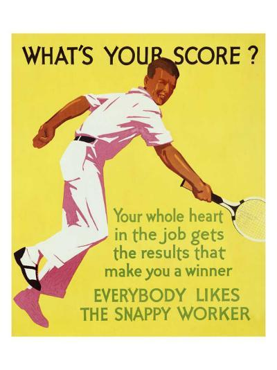 What's Your Score--Giclee Print