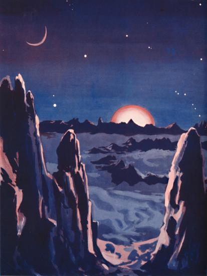 'What Sunrise on the Moon Must Be Like', 1935-Unknown-Giclee Print