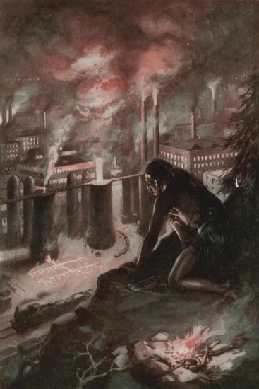 What the First Man Saw in the Fire--Giclee Print