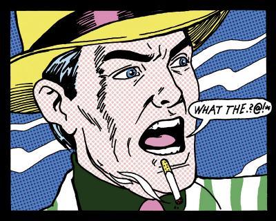 What The  @!*-Tee Buzz-Art Print