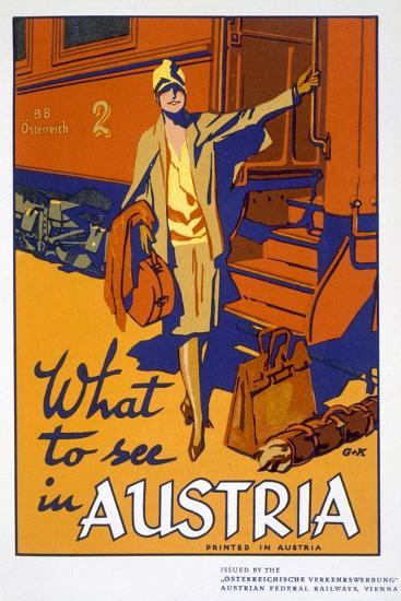 'What to see in Austria', travel poster, c1920s-Unknown-Giclee Print