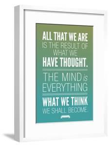 What We Think We Shall Become Buddha