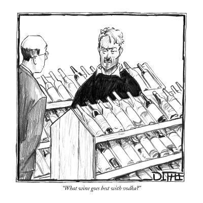 """What wine goes best with vodka?"" - New Yorker Cartoon-Matthew Diffee-Premium Giclee Print"