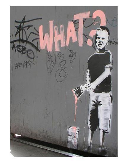 What?-Banksy-Art Print