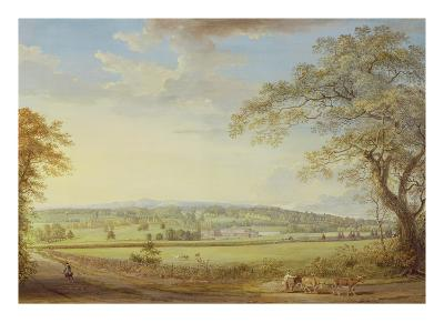 Whatman Turkey Mill in Kent, 1794 (Gouache, Bodycolour, W/C and Pencil on Paper Laid on Canvas)-Paul Sandby-Premium Giclee Print