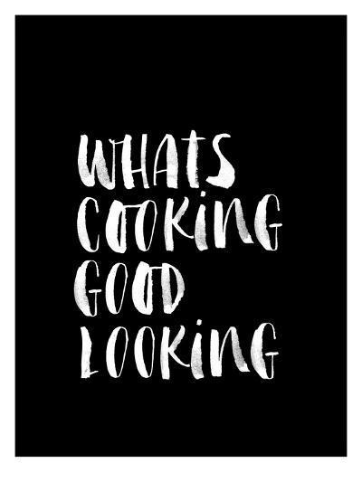 Whats Cooking Good Looking BLK-Brett Wilson-Art Print