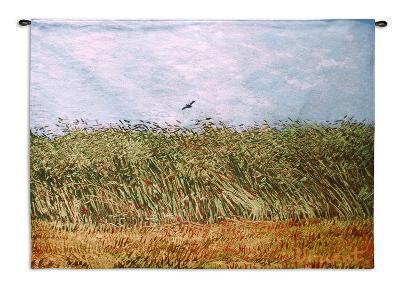 Wheat Field With A Lark Wall Tapestry By Vincent Van Gogh