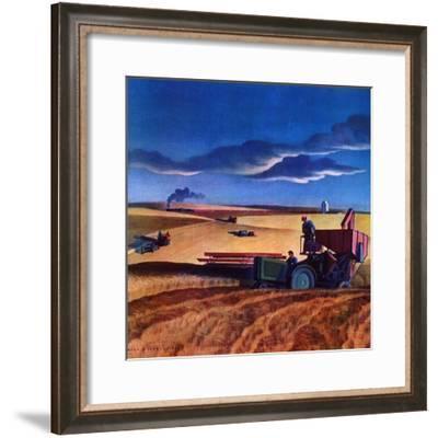 """Wheat Harvest,""June 1, 1942-Dale Nichols-Framed Giclee Print"