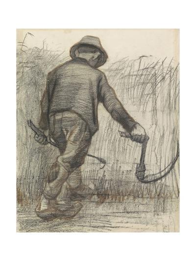 Wheat Mower with Hat, Seen from Behind, C. 1870-90-Vincent van Gogh-Giclee Print