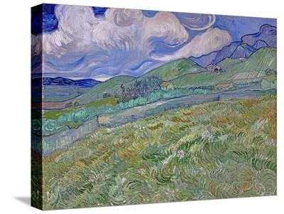 Wheatfield and Mountains, c.1889-Vincent van Gogh-Stretched Canvas Print