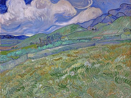 Wheatfield and Mountains, c.1889-Vincent van Gogh-Premium Giclee Print