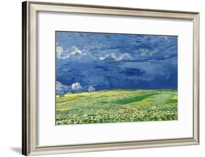 Wheatfield under Thunderclouds, 1890-Vincent van Gogh-Framed Giclee Print