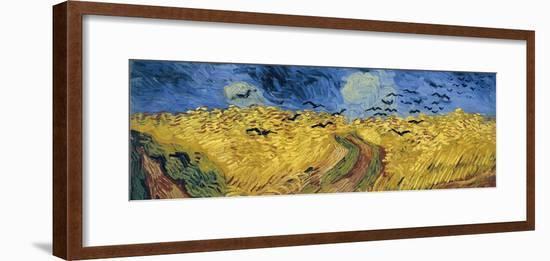 Wheatfield with Crows, 1890-Vincent van Gogh-Framed Giclee Print