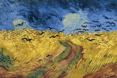 Wheatfield with Crows, 1890-Vincent van Gogh-Wall Mural