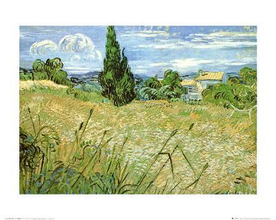 Wheatfield with Cypresses, c.1889-Vincent van Gogh-Art Print