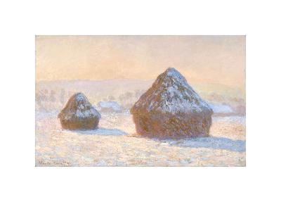 Wheatstacks, Snow Effect, Morning, 1891-Claude Monet-Giclee Print
