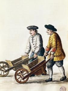 Wheelbarrow Race, from Costumes of Venetians, Grevenbroch Manuscript, Italy, 18th Century
