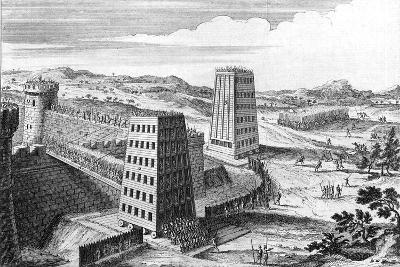 Wheeled Siege Towers and Bridges, 13th Century (18th Centur)--Giclee Print