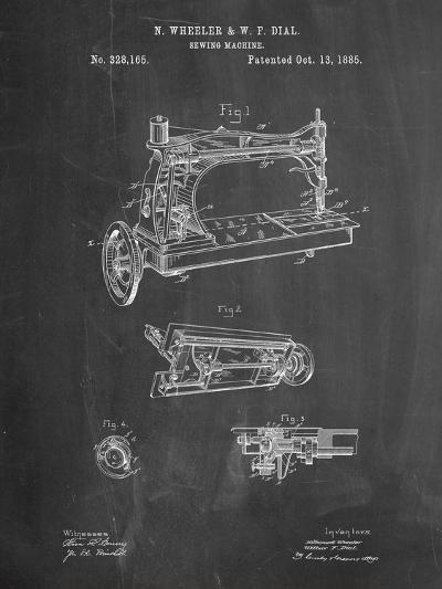 Wheeler and Wilson Sewing Machine Patent-Cole Borders-Art Print