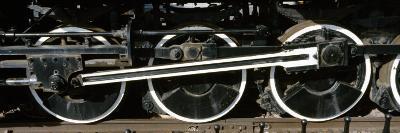 Wheels of a Steam Engine on the Railroad Track, Flagstaff, Coconino County, Arizona, USA--Photographic Print