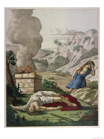 When God Prefers Abels Sacrifice to His Cain Gets Jealous of His Brother and Kills Him--Giclee Print