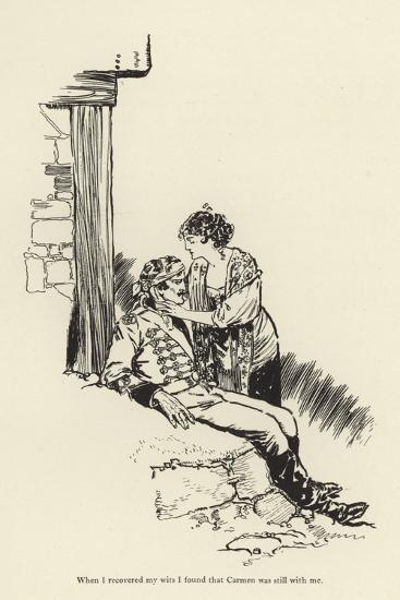 When I Recovered My Wits I Found That Carmen Was Still with Me-René Bull-Giclee Print