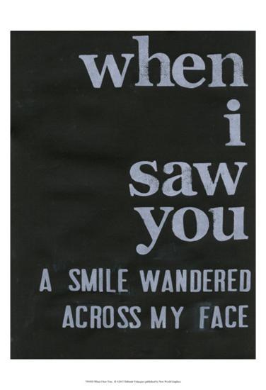 When I Saw You... II-Deborah Velasquez-Art Print