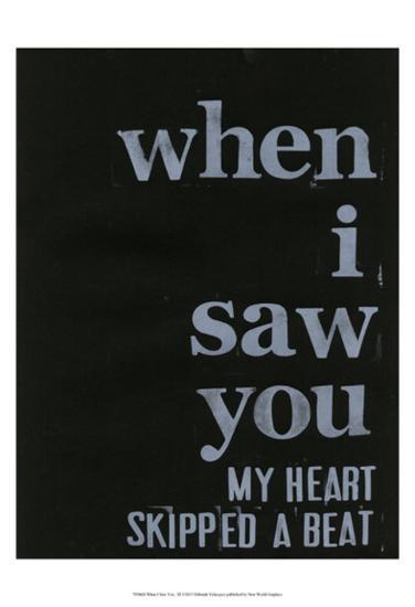 When I Saw You... III-Deborah Velasquez-Art Print