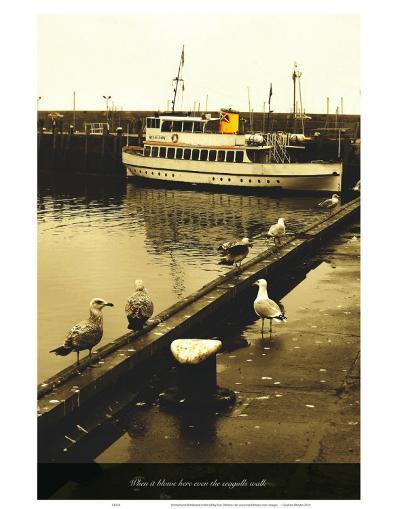When It Blows Here Even the Seagulls Walk-Graham Rhodes-Art Print