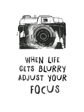 When Life Gets Blurry-Peach & Gold-Art Print