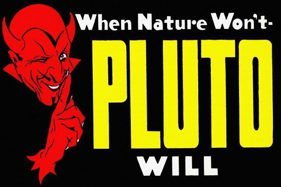 When Nature Won't Pluto Will-Curt Teich & Company-Art Print
