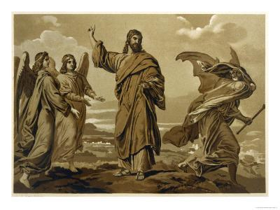 When Satan Offers Him All Kinds of Earthly Rewards Jesus Rejects Him--Giclee Print