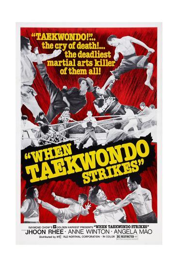 When Taekwondo Strikes--Giclee Print