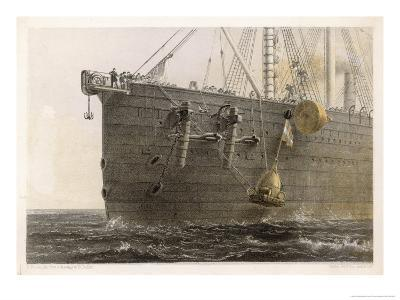 """When the Cable Breaks in Mid- Ocean a Buoy is Launched from the """"Great Eastern"""" to Mark the Spot-Robert Dudley-Giclee Print"""