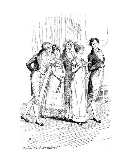 When the Party Entered', Illustration from 'Pride and
