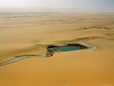 When There is Rain Water Accumulates in the Desert E of the Air Mtns, Niger-Michael Fay-Photographic Print
