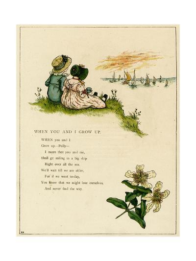 When You and I Grow Up-Kate Greenaway-Giclee Print