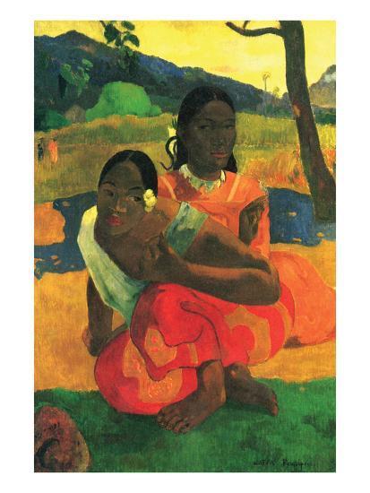When You Hear-Paul Gauguin-Art Print