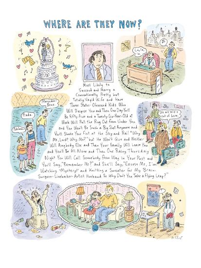 Where Are They Now?' - New Yorker Cartoon-Roz Chast-Premium Giclee Print