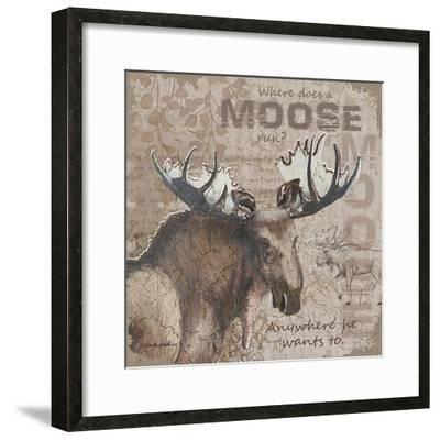 Where Does a Moose Run-Anita Phillips-Framed Art Print