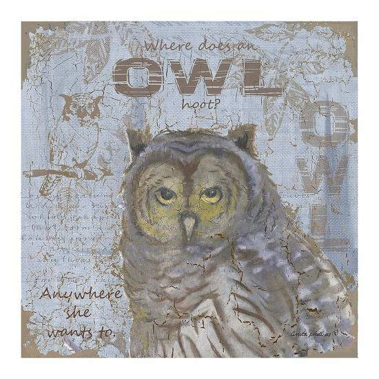 Where Does an Owl Hoot-Anita Phillips-Art Print