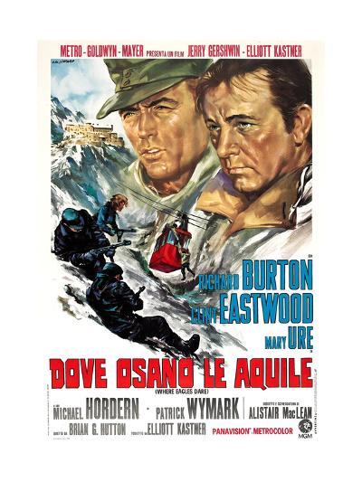 Where Eagles Dare, (AKA Dove Osano Le Aquile), from Left: Clint Eastwood, Richard Burton, 1968--Giclee Print
